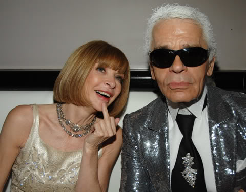 Anna Wintour & Karl Lagerfield